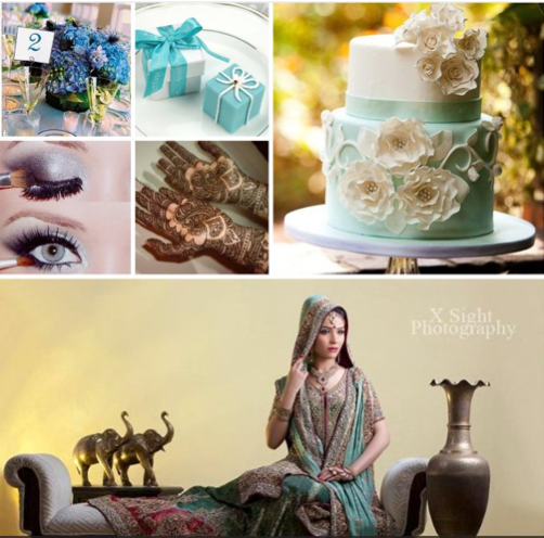 Pakistani Wedding Ideas: Pakistani Wedding Ideas: Teal & Red Lengha Inspiration