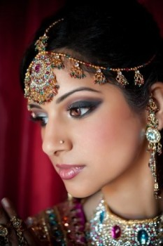 Indian Pakistani Wedding Bride Makeup Jewelry