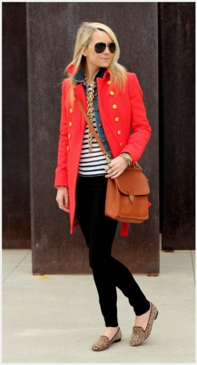 red coat leopard shoes