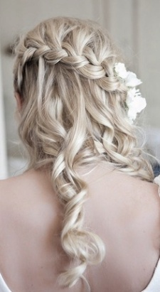 Half up half down hair do, braids